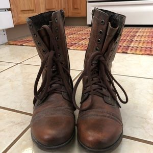 Steve Madden Distressed Combat Boots